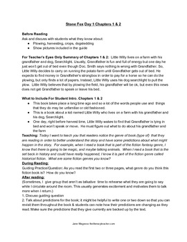 Guided Reading Guide Level P: Stone Fox