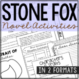 Stone Fox Interactive Notebook Novel Unit Study Activities