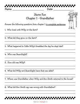 Stone Fox Literature Study