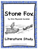 Stone Fox Literature Study - TRIAL - Ch1-5; Tests, Vocabulary, Activities, MORE!