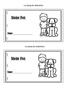 Stone Fox Mini Book *Great for Independent Work Time*