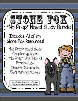 Stone Fox *NO PREP* Novel Study Unit Bundle  BEST VALUE!!!!