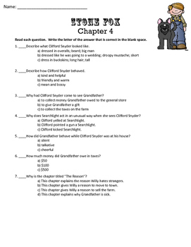 Stone Fox *No Prep* Chapter Quizzes