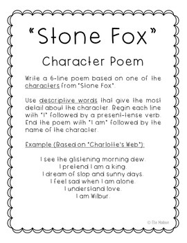 Stone Fox Novel Unit Study Activities, Book Companion Worksheets, Project