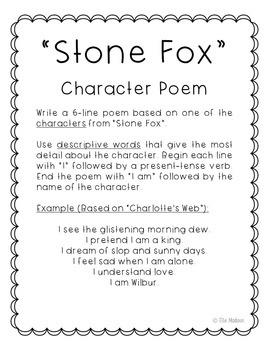 Stone Fox Novel Unit Study Activities, Book Companion Worksheets, Project