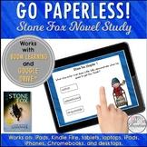 Google Classroom™ Stone Fox Boom Cards & Google Drive™ Digital Novel Study