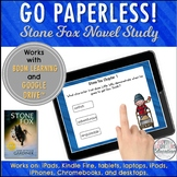 Stone Fox Boom Cards & Google Drive™ Digital Novel Study