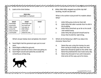 Stone Fox Novel Study Booklet and Test