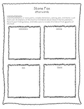 Stone Fox Novel Study - CC Aligned - Grades 2-4