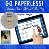 Google Classroom™ Stone Fox Novel Study Chapter 1 Sample