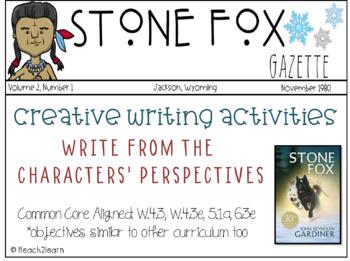 Stone Fox Novel Study - Creative Writing Activities
