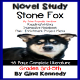 Stone Fox Novel Study & Enrichment Project Menu