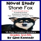 Stone Fox Novel Study & Project Menu; Plus Digital Option