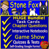 Stone Fox Novel Study and Interactive Notebook Print AND Paperless, Google Ready