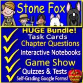 Stone Fox Distance Learning Novel Study Printable PLUS SELF-GRADING GOOGLE FORMS