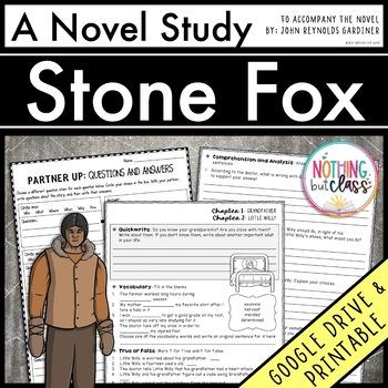 Stone Fox Novel Study Unit: comprehension, vocabulary, activities, tests
