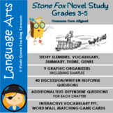 Stone Fox Novel Study for Grades 3-5/Common Core Aligned
