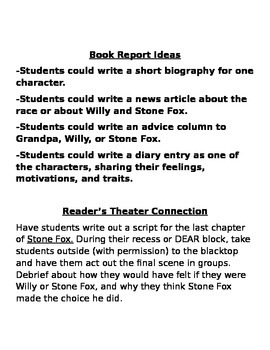 Stone Fox Project Ideas and Test