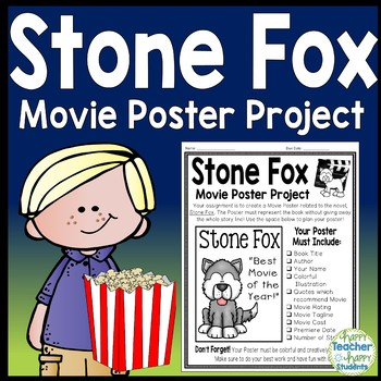 Stone Fox Project: Make a Movie Poster! (Stone Fox Book Report activity)