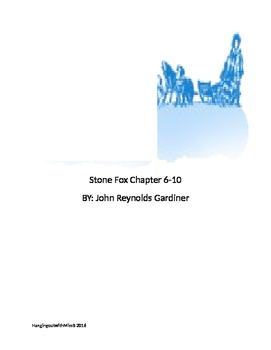 Stone Fox Question Chapter 6-10