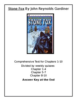 Stone Fox Reading Quizzes with Answer Key