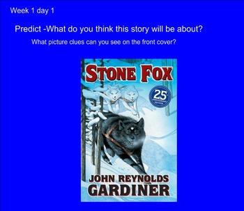Stone Fox Smartboard Activities