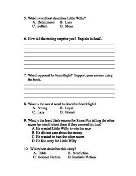 Stone Fox - Book Test & Bonus Book Report