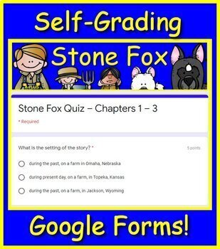 Stone Fox Test - Free Print AND Paperless Versions!