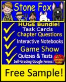 Stone Fox Novel Study - FREE Quiz! Printable AND SELF-GRADING GOOGLE FORMS!