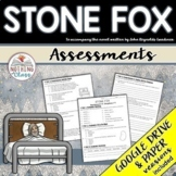 Stone Fox: Tests, Quizzes, Assessments Distance Learning