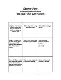 Stone Fox Tic Tac Toe Choice Board - Culminating Activity