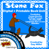 Stone Fox Novel Study: vocabulary, comprehension questions
