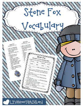 Stone Fox Vocabulary Bundle