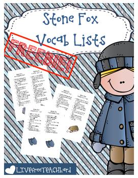 Stone Fox Vocabulary Lists