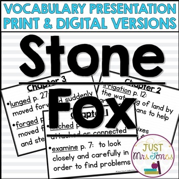 Stone Fox Vocabulary Presentation