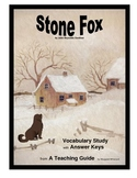 Stone Fox  Vocabulary Study