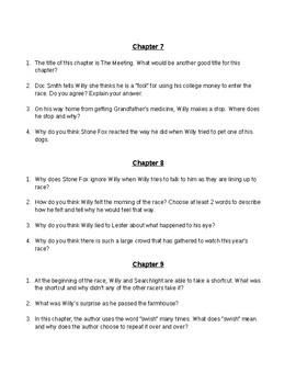 Stone Fox (by John Reynolds Gardiner) Novel Study
