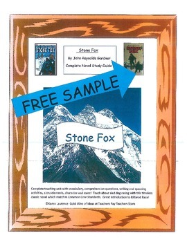 Stone Fox by John Reynolds Gardner Novel Study Guide - FREE