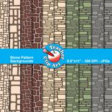 Stone Pattern Backgrounds Clip Art
