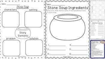 This is a picture of Sweet Stone Soup Story Printable