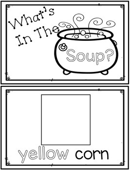 Stone Soup... Adapted Book, Literacy and Math Activities