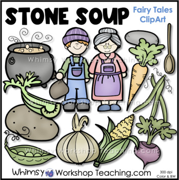 Stone Soup Clip Art By Whimsy Workshop Teaching Tpt