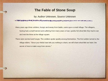 Stone Soup... Draw a Table Look for a Pattern
