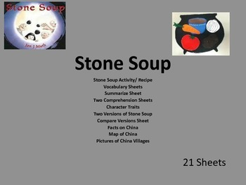 Stone Soup Picture Book Unit