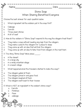 Stone Soup - Sample lesson from Thanksgiving Dinner Theme Unit