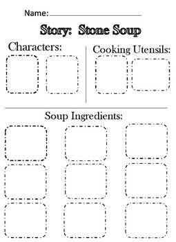 Stone Soup Story Parts cut and paste