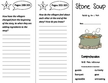 Stone Soup Trifold - Treasures 3rd Grade Unit 3 Week 1 (2009)