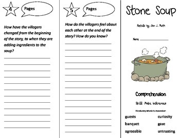 Stone Soup Trifold - Treasures 3rd Grade Unit 6 Week 1 (2011)