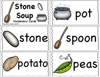 Stone Soup Vocabulary Cards