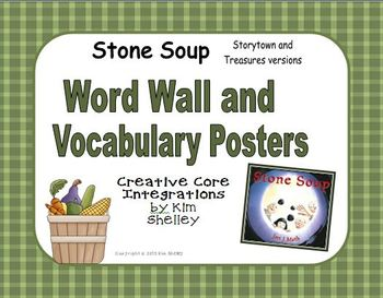 Stone Soup Vocabulary Posters and Word Wall - Storytown and Treasures